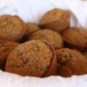 Brown Sugar Spice Zucchini Muffins