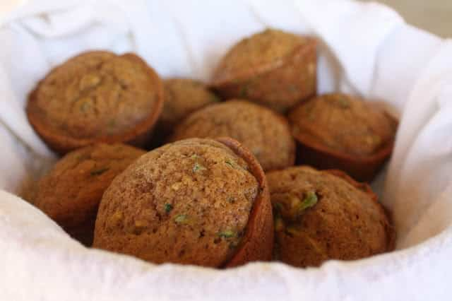Brown Sugar Spice Zucchini Muffins recipe by Barefeet In The Kitchen