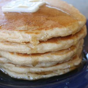 Light Fluffy Whole Wheat Pancakes