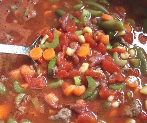 Italian Vegetable Soup Barefeetinthekitchencom - Italian vegetable soup