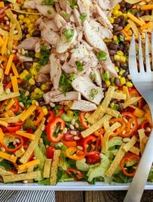 Everyone loves this Southwest Chicken Salad - get the recipe at barefeetinthekitchen.com
