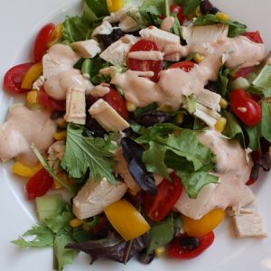 Southwest Chicken Salad with Spicy Ranch Dressing