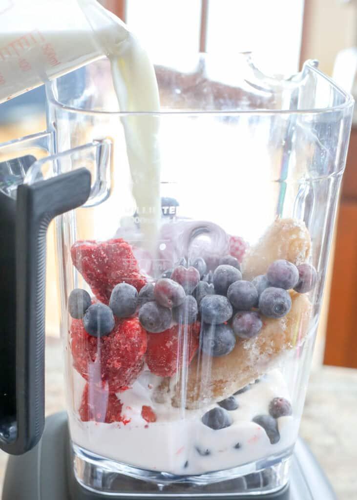 Strawberry Blueberry Banana Smoothie recipe