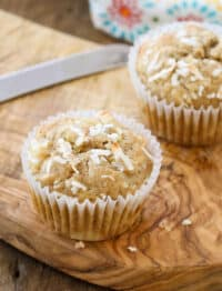 Hawaiian Muffins are kid favorite! get the recipe at barefeetinthekitchen.com