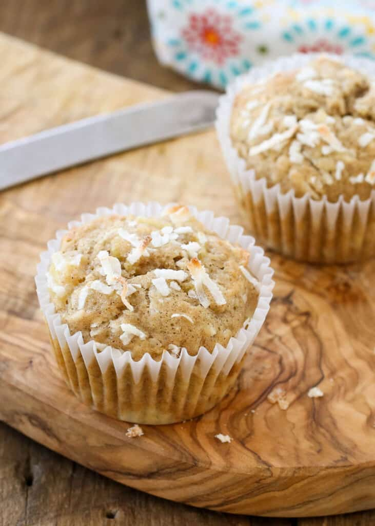 Hawaiian Muffins are kid favorite! get the recipe at barefeetinthekitchen.com