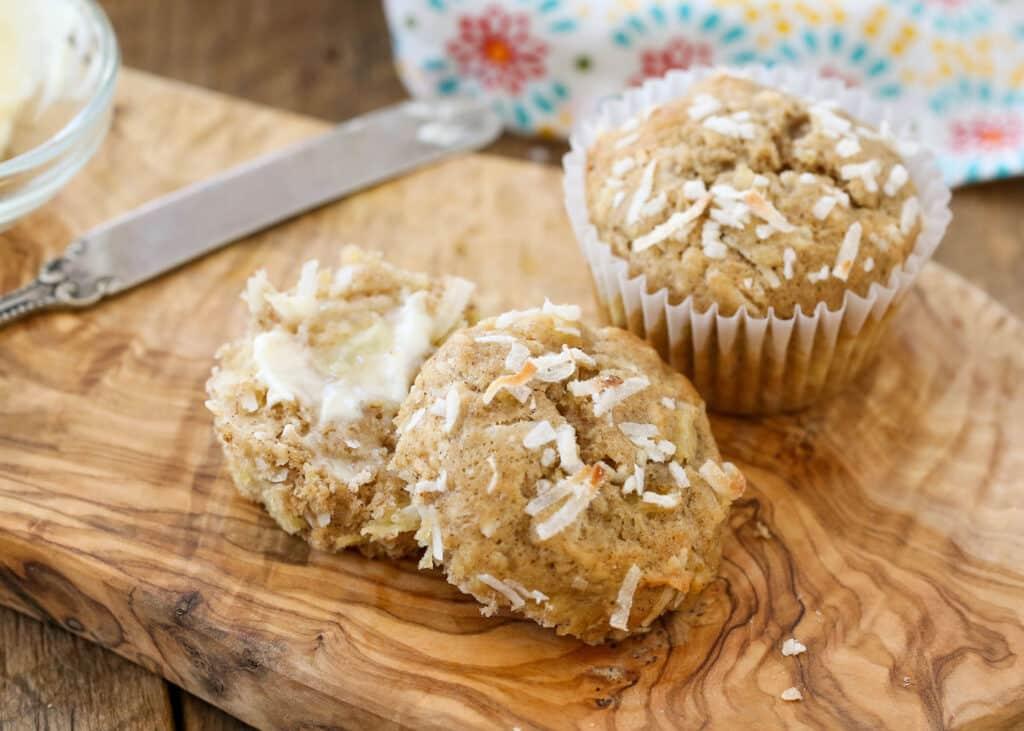 Hawaiian Muffins - get the recipe at barefeetinthekitchen.com
