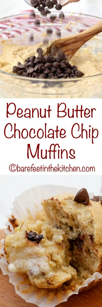 Peanut Butter Chocolate Chip Muffins are a kid favorite! get the ...