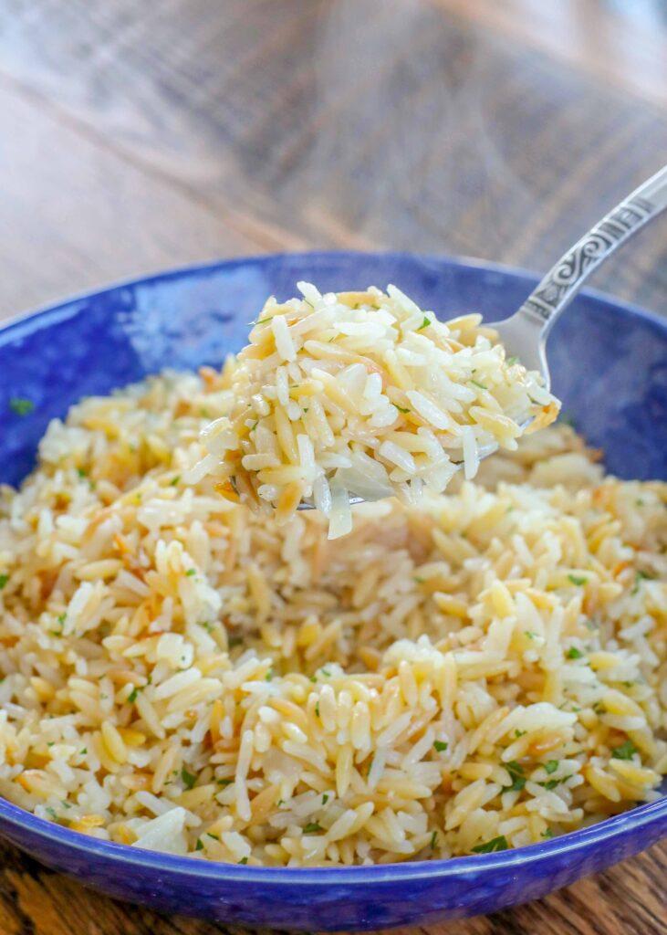 Classic garlicky Rice Pilaf