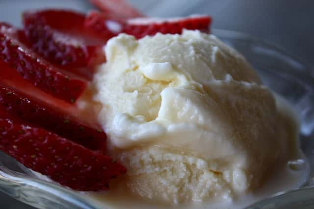 Homemade Vanilla Ice Cream recipe by Barefeet In The Kitchen