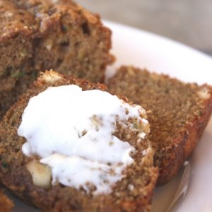 White Chocolate Macadamia Nut Zucchini Bread