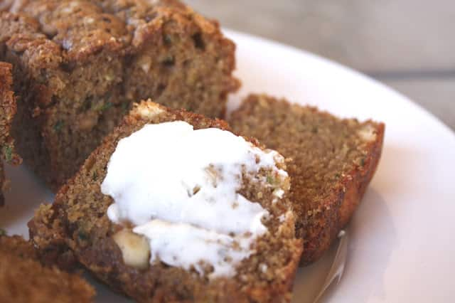 White Chocolate Macadamia Nut Zucchini Bread recipe by Barefeet In The Kitchen
