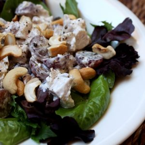 Cashew Chicken Salad with Grapes