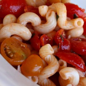 Cavatappi with Sunburst and Grape Tomatoes