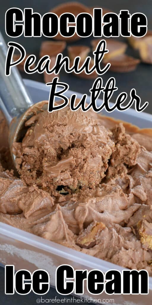 Chocolate Peanut Butter Cup Ice Cream is better than store bought!