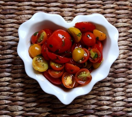 Marinated Tomatoes recipe by Barefeet In The Kitchen