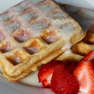 Whole Wheat Waffles with Waffle Sauce