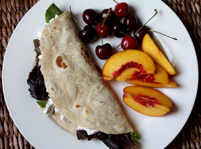 Chicken Salad Wrap recipe by Barefeet In The Kitchen