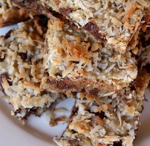 Dark Chocolate Coconut Blondies - Gluten Free or Not recipe by Barefeet In The Kitchen