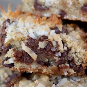 Dark Chocolate Coconut Blondies – Gluten Free or Not