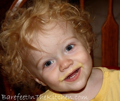 pineapple orange julius smoothie - baby mustache