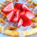 Whole Wheat Waffles with Waffle Sauce and Fresh Berries