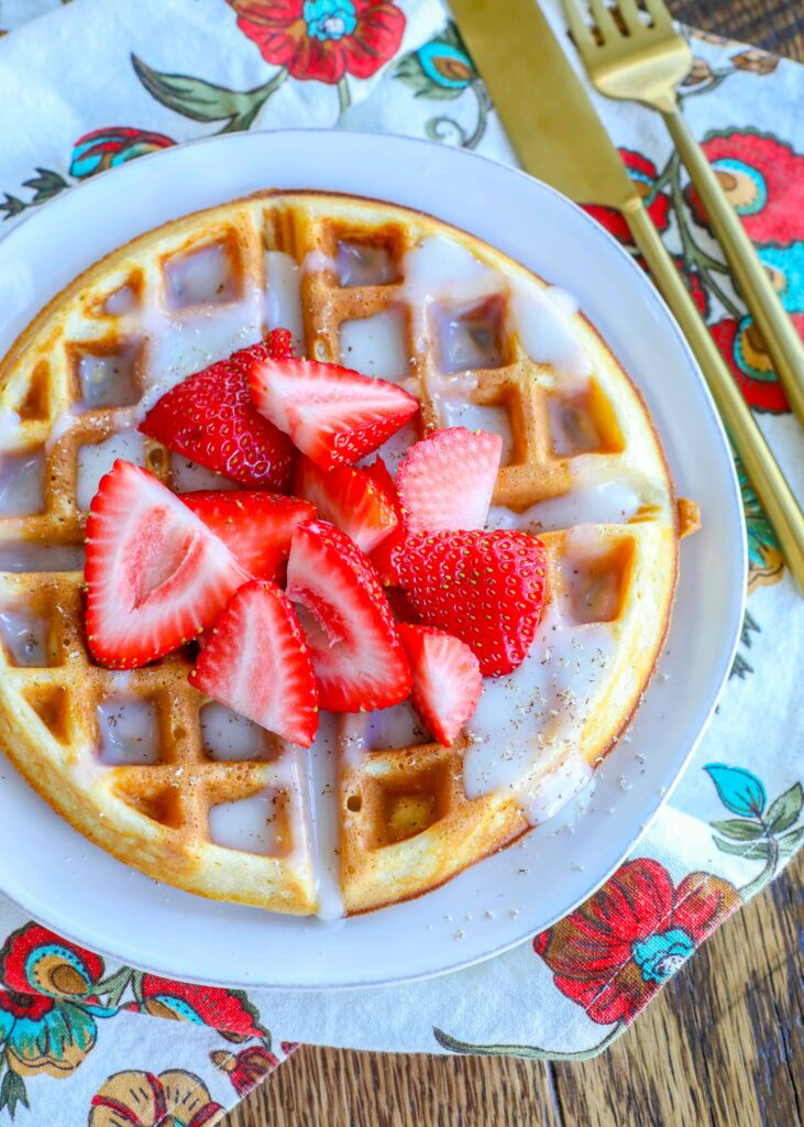 Whole Wheat Waffles with Berries and Waffle Sauce