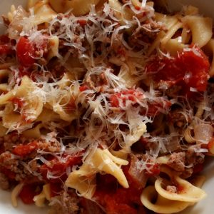 Pasta with Easy Italian Meat Sauce