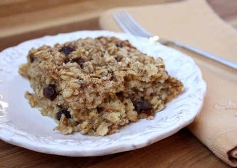 Cinnamon Spice Soaked & Baked Oatmeal recipe by Barefeet In The Kitchen