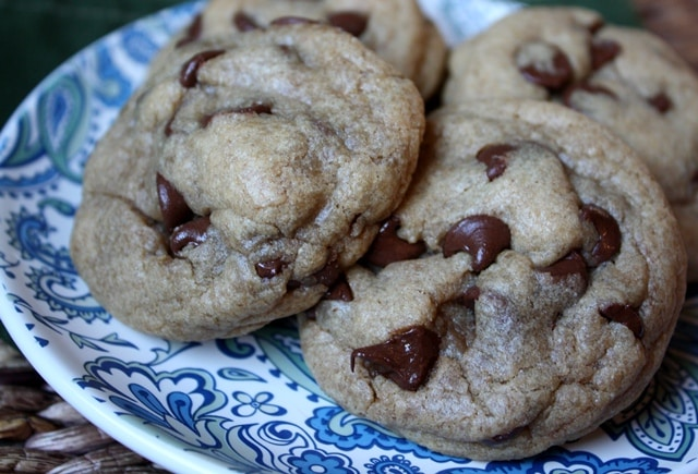 Whole Wheat Peanut Butter Chocolate Chip Cookies recipe by Barefeet In The Kitchen
