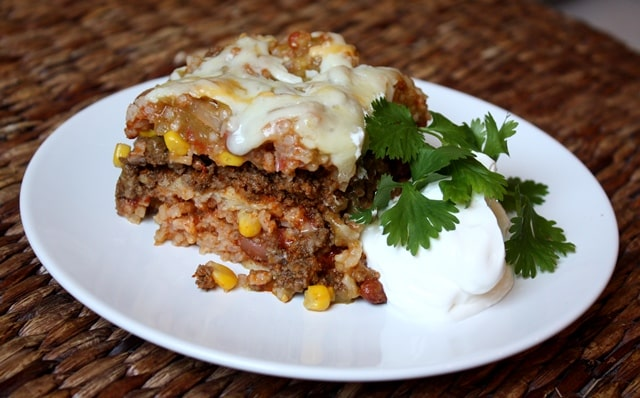 Mexican Lasagna recipe by Barefeet In The Kitchen