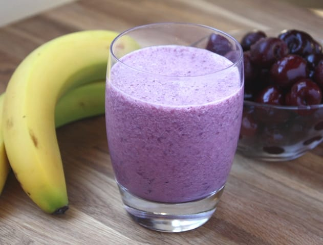 Cherry Banana Smoothie recipe by Barefeet In The Kitchen
