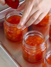 Don't forget to wipe any spills on the jar rims before processing and sealing - get the recipe at barefeetinthekitchen.com