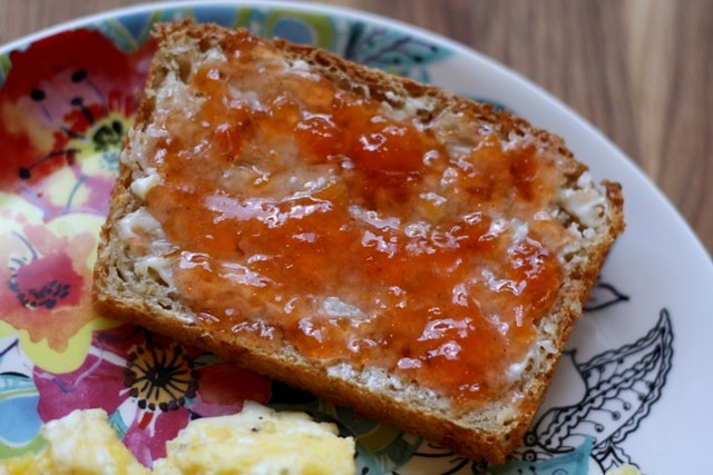 Homemade Peach Jam recipe by Barefeet In The Kitchen