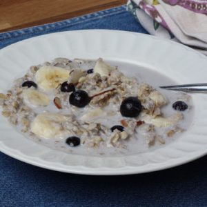 Brown Sugar Blueberry Banana Crockpot Oatmeal