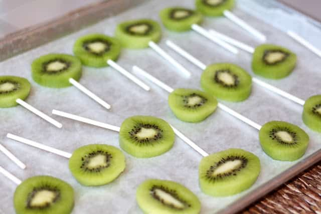 Chocolate Covered Kiwi Popsicles recipe by Barefeet In The Kitchen