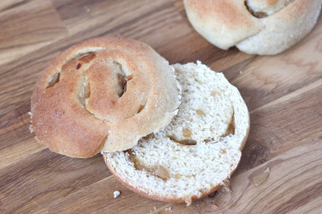 Caramelized Onion Rolls - Whole Wheat recipe by Barefeet In The Kitchen
