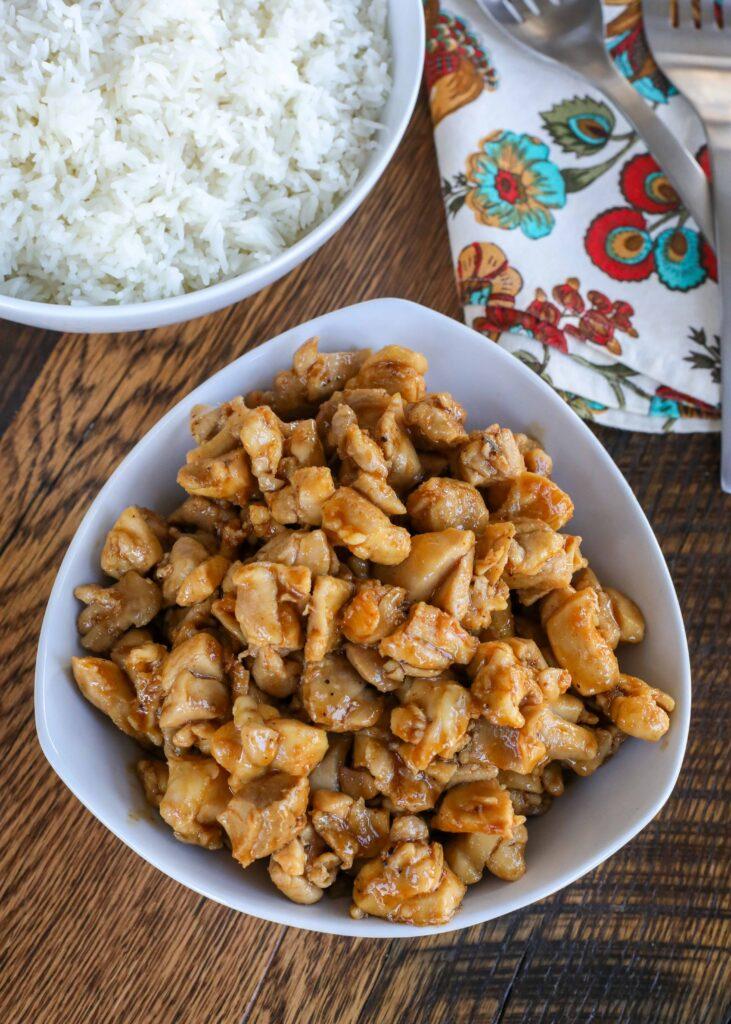 Chicken with Homemade Teriyaki Sauce