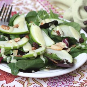 Carver's Salad with Honey Cider Dressing