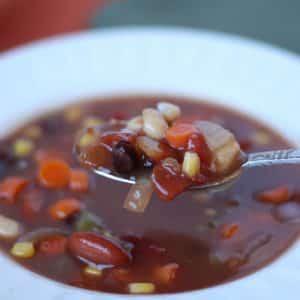 Southwestern Three Bean Soup