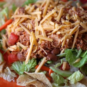 Chicken and Bean Taco Salad – In The Crockpot