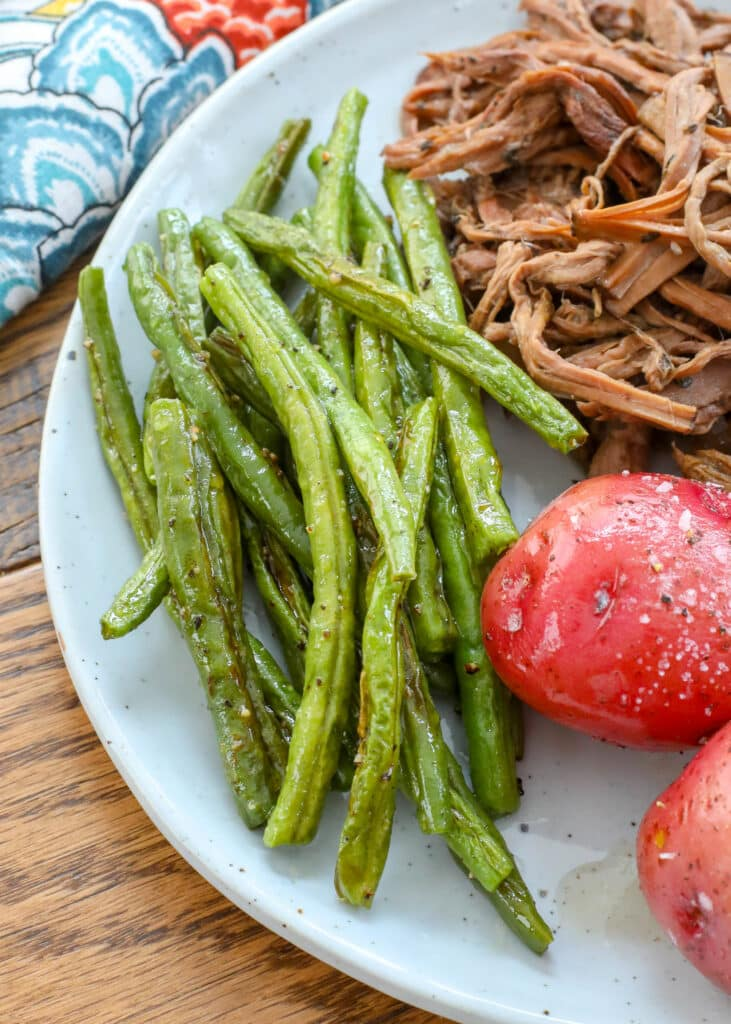 Oven roasted is my favorite way to eat green beans!