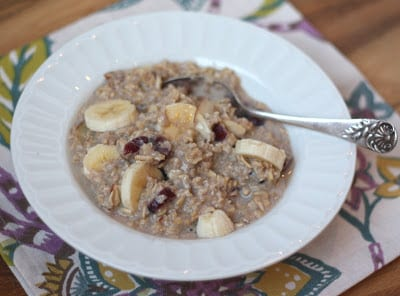 A plate of food on a table, with Oat and Oatmeal