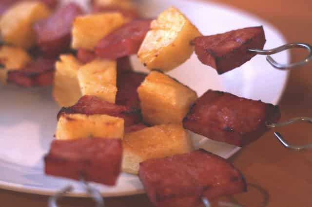Ham and Pineapple with a Balsamic Brown Sugar Glaze recipe by Barefeet In The Kitchen