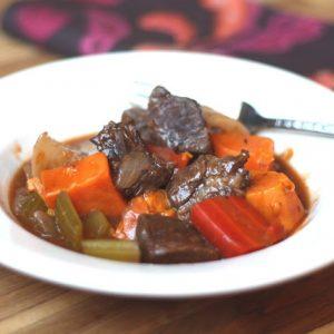 Beef Stew with Sweet Root Vegetables