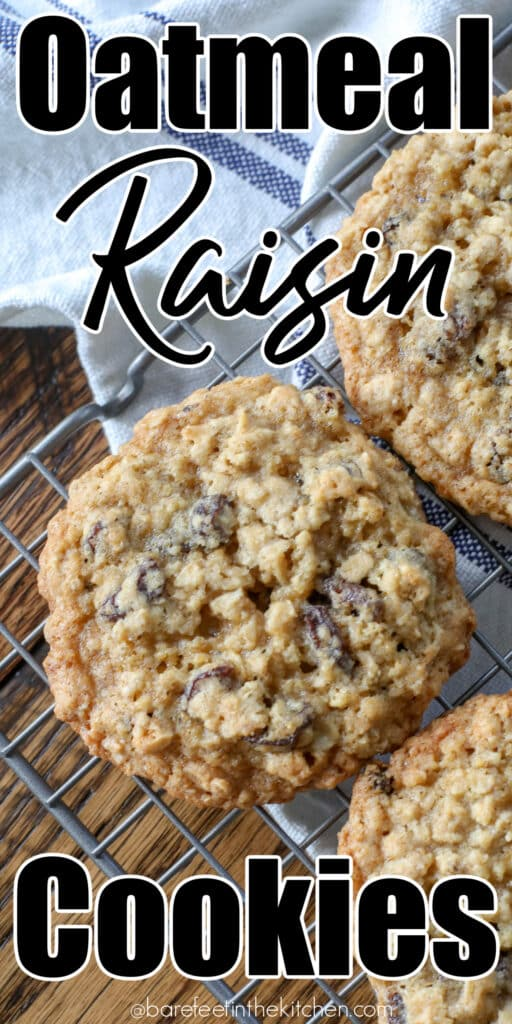 Oatmeal Raisin Cookies are a classic cookie that I can not resist.
