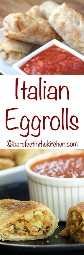 Italian Eggrolls - get the recipe at barefeetinthekitchen.com