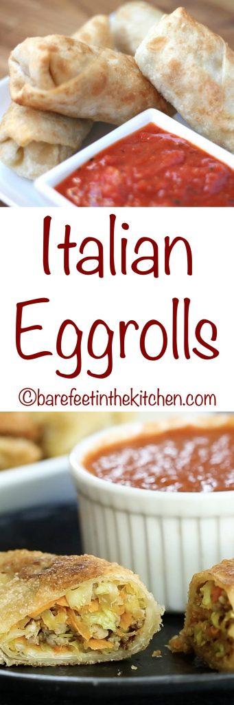 Italian Eggrolls - get the recipe at barefeetinthekitchen.com
