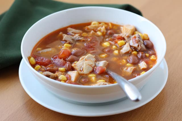 Ranch Style Chicken and Bean Soup recipe by Barefeet In The Kitchen