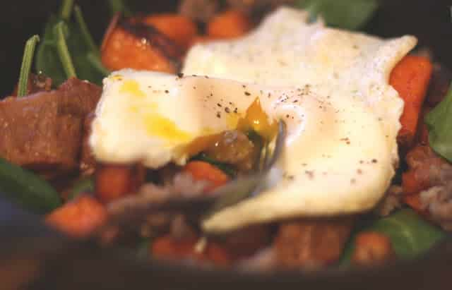 Roasted Sweet Potato and Spinach Breakfast Hash ...