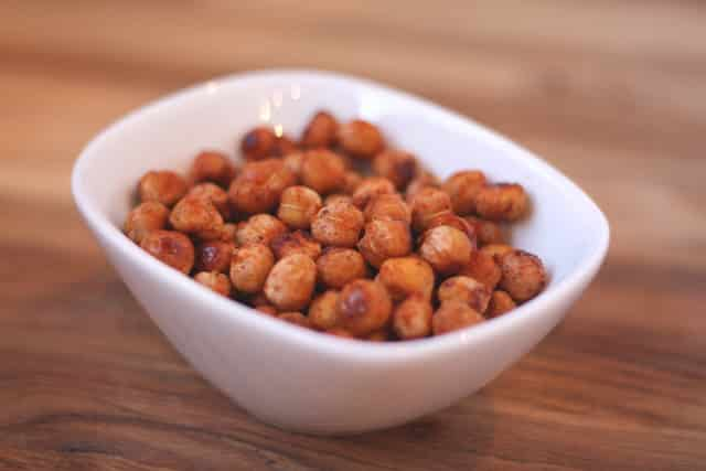 Sweet and Spicy Roasted Chickpeas recipe by Barefeet In The Kitchen